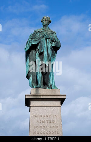 The statue of King George IV in George Street, Edinburgh was erected to commemorate the visit of George IV to Scotland - Stock Photo