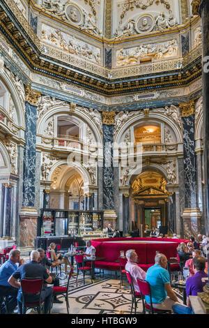 Cafe in the Kunsthistorisches Museum, Vienna, Austria - Stock Photo