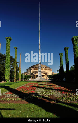 architecture, architektur, breslau, centennial, city, destination, dolnoslaskie, dolny, europa, europe, ferien, - Stock Photo