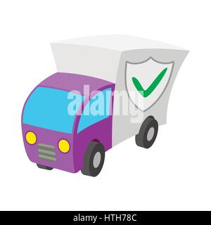 Car guard shield icon, cartoon style  - Stock Photo