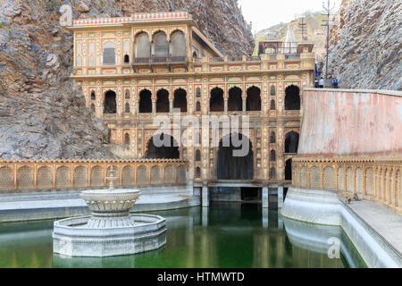 Galtaji, Monkey Temple Plant, near Jaipur, Rajasthan, India - Stock Photo