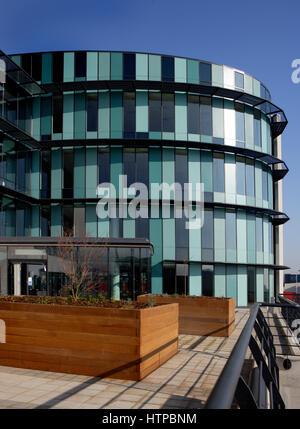 Ellipse Building in Swansea, West Glamorgan, Wales, United Kingdom - Stock Photo