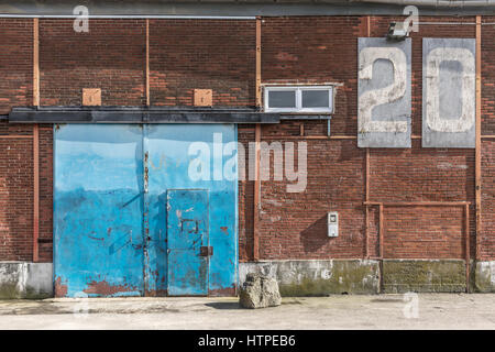 Old port Hangar on the Quai des Antilles (Nantes, France) - Stock Photo