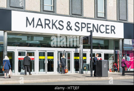 Marks and Spencer shop front. M&S store front in Brighton, East Sussex, England, UK. - Stock Photo
