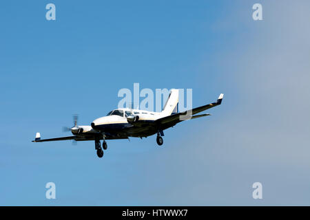 Piper PA31-310 Navajo  at Staverton airfield, Gloucestershire, UK (G-OUCP) - Stock Photo