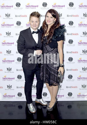 attending Winter Carnival, in aid of LGBT+ Switchboard, hosted by Tom Daley at The Ivy, London.  Featuring: Saara - Stock Photo