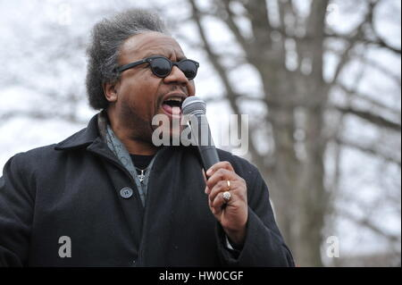Washington, DC, USA. 15th Mar, 2017. The Rev. C.L. BRYANT, Baptist minister and radio and tv host, speaks as onservative - Stock Photo