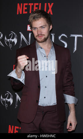 New York, USA. 15th March 2017. Finn Jones attends NetFlix presents a premiere of Marvel's Iron Fist at AMC Empire - Stock Photo