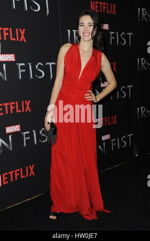 New York, NY, USA. 15th Mar, 2017. Jessica Henwick at arrivals for NETFLIX Presents MARVEL'S IRON FIST Series Premiere, - Stock Photo