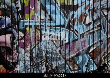 Grafitti in Copenhagen, Denmark - Stock Photo