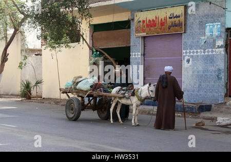 Daily life in Luxor - Stock Photo