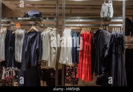 Casual clothing in a retail store - Stock Photo