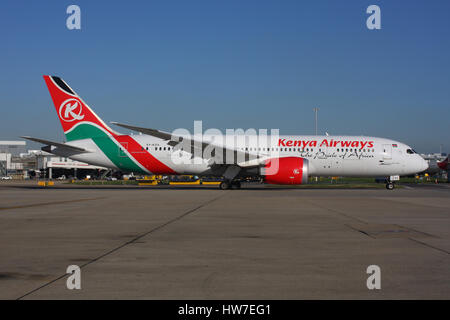 AIRCRAFT KENYA 787 - Stock Photo