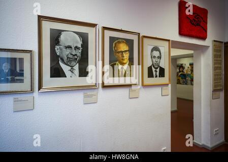 Germany, Berlin, Friendrichshain, Stasi Museum, DDR-era secret police museum in former secret police headquarters, - Stock Photo