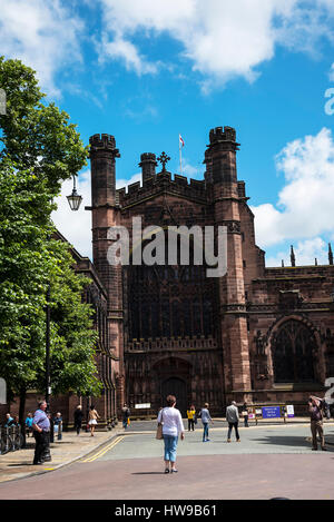Chester Cathedral is a Church of England cathedral and the mother church of the Diocese of Chester. It is located - Stock Photo