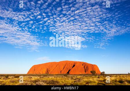 Ayers Rock or Uluru, Uluru-Kata Tjuta National Park, Northern Territory, Australia - Stock Photo