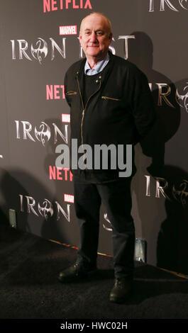 New York, NY USA - March 15, 2017: Jeph Loeb attends Marvels Iron Fist New York Screening at AMC Empire 25 - Stock Photo