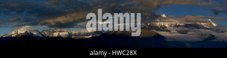 Meili snow mountain, morning, Sanjiang Naga, Yunnan Province, China - Stock Photo