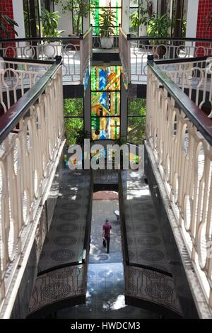 Dominican Republic, Santo Domingo, Zona Colonial, building interior, Calle El Conde street - Stock Photo