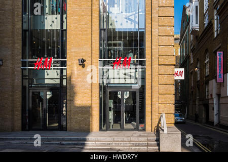 H&M Store in Converted Warehouse, Covent Garden Area, London, England, U.K. - Stock Photo