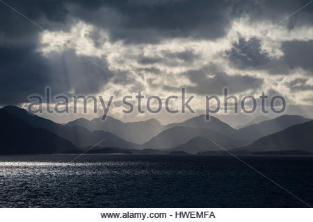 The Patagonian fjords, Chile - Stock Photo