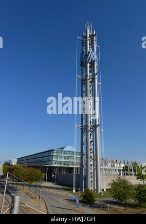 Messeturm, Neue Messe, Leipzig, Sachsen, Deutschland - Stock Photo