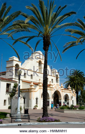 The Mission Play Theater built in 1922 in San Gabriel, California - Stock Photo