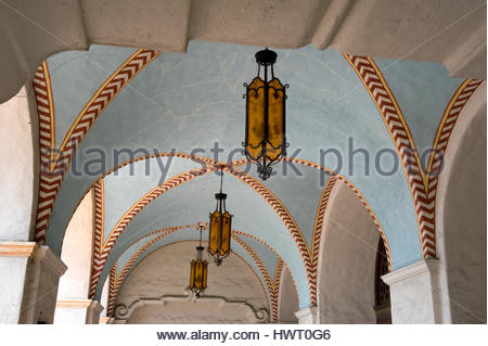 Detail of entry to the Mission Play Theater built in 1922 in San Gabriel, CA. - Stock Photo