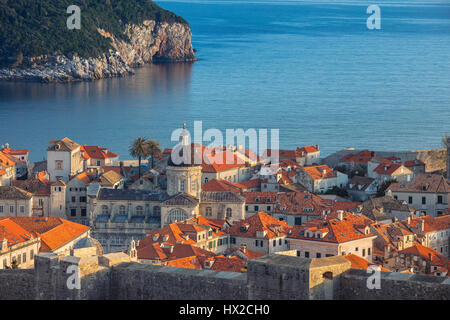 Dubrovnik, Croatia. Beautiful romantic old town of Dubrovnik during sunny day. - Stock Photo