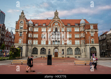 Silesian Museum building in downtown of Katowice city, the center of the Silesian Metropolis in southwestern Poland - Stock Photo