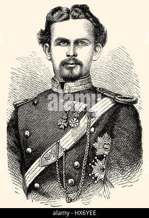 Ludwig II Otto Friedrich Wilhelm von Bavaria, 1845 - 1886, King of Bavaria - Stock Photo