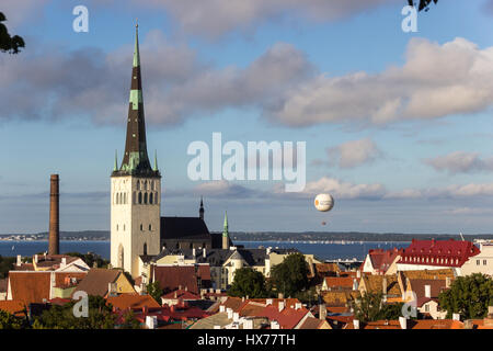 View to the peaceful town - Stock Photo