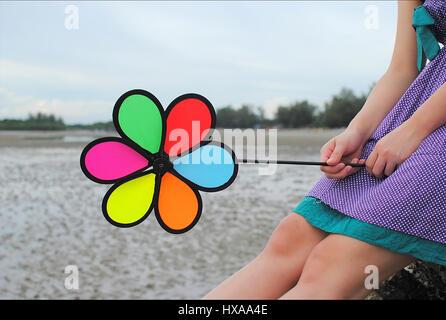 Colorful Wind Wheel - Stock Photo
