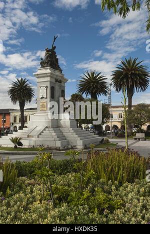 Ecuador, Latacunga, Parque Vicente Leon park - Stock Photo