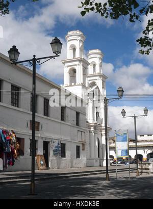 Ecuador, Latacunga, Iglesia Santo Domingo church - Stock Photo