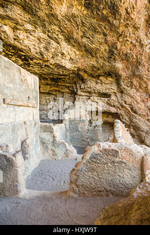 The Lower Cliff Dwelling of the Tonto National Monument, Arizona, USA. - Stock Photo