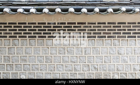 Korean style wall and roof - Stock Photo