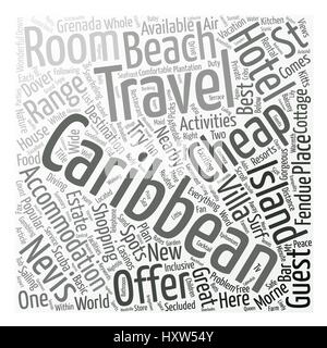 Cheap Caribbean Travel text background word cloud concept - Stock Photo