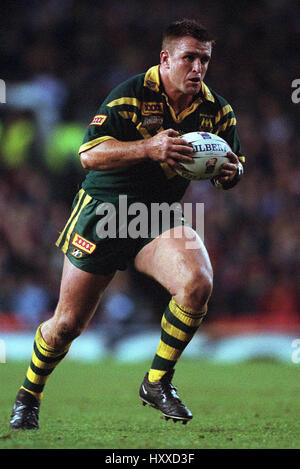 NATHAN HINDMARSH AUSTRALIA RL RUGBY LEAGUE WORLD CUP FINAL OLD TRAFFORD MANCHESTER 25 November 2000 - Stock Photo