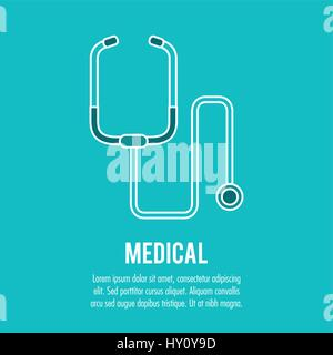 stethoscope medical health care - Stock Photo