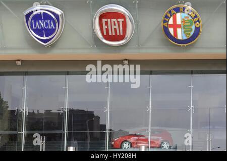 Turin (Italy),  front of Mirafiori headquarters of FIAT car factory - Stock Photo