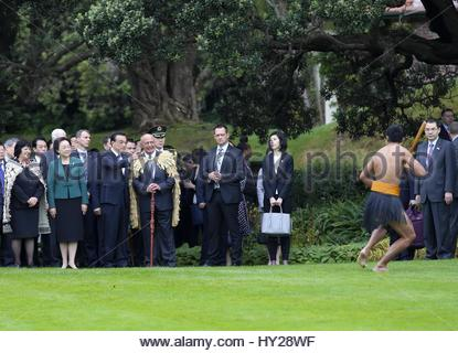 Wellington, New Zealand. 27th Mar, 2017. Chinese Premier Li Keqiang pays official visit to New Zealand and attends - Stock Photo