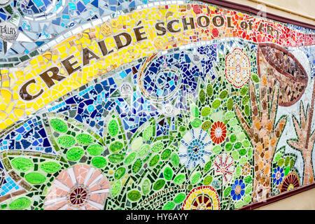 Winter Park Orlando Florida Crealde School of Art community non-profit arts school gallery mosaic mural - Stock Photo