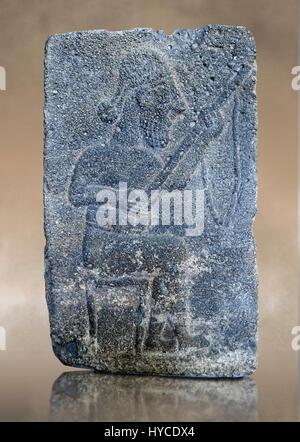 10th - 8th century BC stone Neo-Hittite/ Aramaean Orthostats from the city of Sam'al (Hittite: Yadiya) near Zincirli - Stock Photo