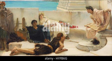 Sir Lawrence Alma Tadema, English (born Netherlands)   A Reading from Homer   Google Art Project - Stock Photo