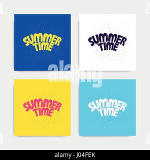 Summer time lettering text - Stock Photo