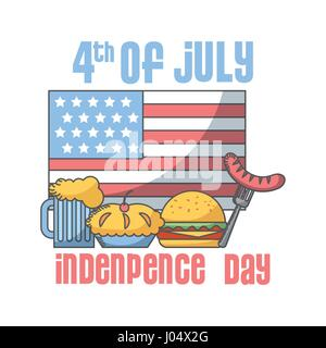 Usa independence day design - Stock Photo