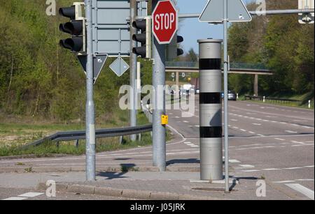 Speed Trap - Radar Trap - Red light control - Stock Photo
