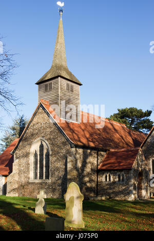 St Mary the Virgin Church, Tawney Lane, Stapleford Tawney, Essex, England. - Stock Photo
