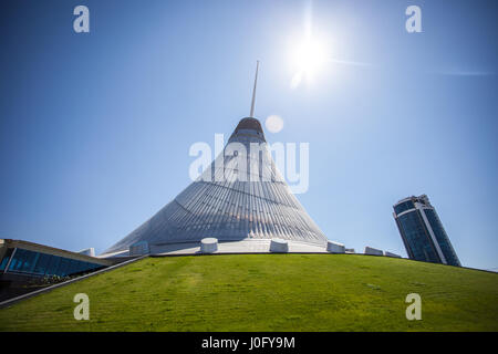 Shopping and entertainment center Khan Shatyr in Astana. Design and building in the capital of Kazakhstan. - Stock Photo